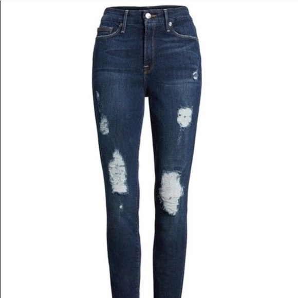 57879631579 Good American Denim - Good American Good Legs High Rise Ripped skinny